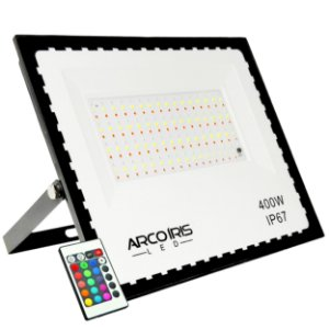 Refletor Led Mini 400w Rgb Colorido IP67 Bivolt - 81734