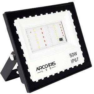 Refletor Led Mini 50w Rgb Colorido IP67 Bivolt - 81743