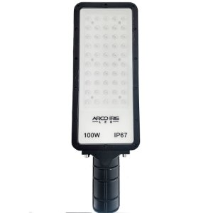 Luminária Retangular Micro LED 100W IP67 Para Poste Preta - 81162-1