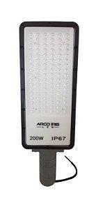 Luminária Retangular Micro LED 200W IP67 Para Poste Cinza - 81163