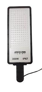 Luminária Retangular Micro LED 300W IP67 Para Poste Preta - 81164-1