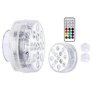Led Para Piscina RGB A Prova D'água 16 Cores Controle Remoto - 81950