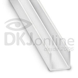 Perfil u 6x6 mm em ps (poliestireno) de 30 cm a 3 mts