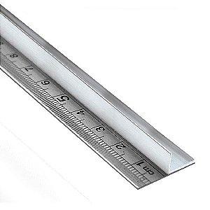 Régua de aço 30 cm com protetor para as mãos em alumínio