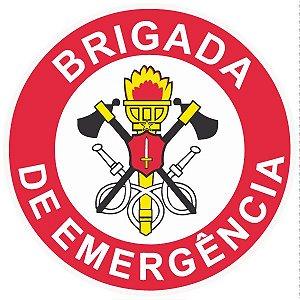 Brigada de incêndio / emergência modelo 1 - vinil adesivo para crachá ou capacete