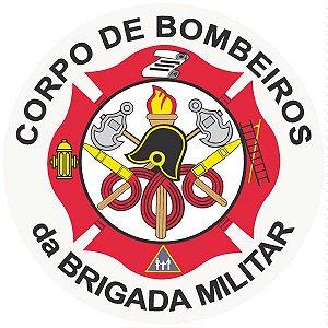 Corpo de bombeiros da brigada militar - vinil adesivo para crachá ou capacete