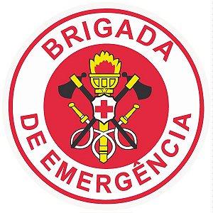 Brigada de incêndio / emergência modelo 3 - vinil adesivo para crachá ou capacete