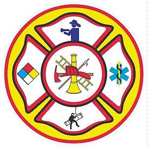 Brigada de incêndio / emergência pictograma modelo 1 - vinil adesivo para crachá ou capacete
