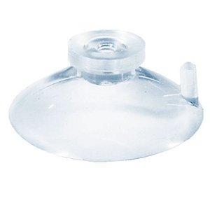Ventosa em pvc transparente azulado 55 mm cabeça tipo botão