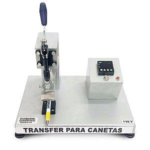 Prensa térmica transfer para personalizar canetas plástica