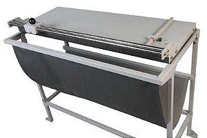 Refiladora duplo eixo 150 cm com mesa para papel, lona e vinil adesivo