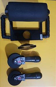 Roller Hot aplicador de vinil adesivo em corrugados e rebites e superfícies irregulares com auxilio de soprador térmico