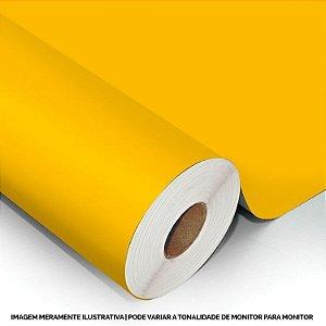 Interline - Vinil adesivo polimérico sun flower yellow (amarelo girassol) brilho 61 cm de largura - Aplike