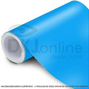 Interline - Vinil adesivo translúcido process blue C (azul médio) brilho 61 cm de largura - Aplike