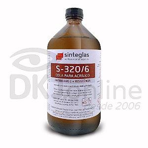 S-320/6 cola para acrílico cast anti bolhas e maior resistência 1 litro Sinteglas