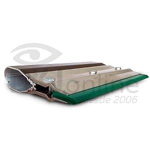 Rodo de alumínio para serigrafia (silk screen) 15 cm poliuretano verde