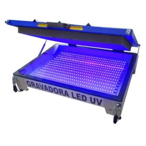 Gravadora Led U.V. 90 x 120 cm para matriz serigráfica Advance Metal Printer