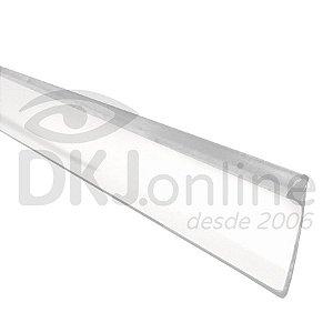 Perfil trim 19 mm branco em ABS para acabamento de letra caixa rolo com 50 mts