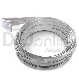 Perfil trim 22 mm branco em ABS para acabamento de letra caixa rolo com 50 mts