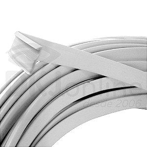 """Perfil trim 1""""  branco 50 mts em ABS para acabamento de letra caixa"""