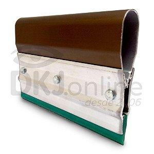 Rodo de alumínio para serigrafia (silk screen) 35 cm poliuretano verde