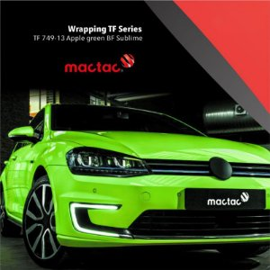 Vinil adesivo tunning wrapping TF series apple green BF sublime 1,52x25 mt Mactac
