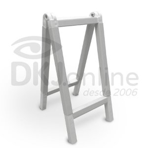 Cavalete 40x60 cm em PVC branco