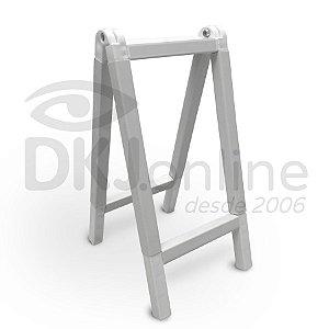 Cavalete 80x120 cm em PVC branco