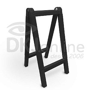 Cavalete 20x30 cm em PVC preto