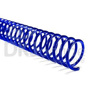 Espiral PVC para encadernação 9 mm azul pacote com 100 unidades - ideal para 50 folhas