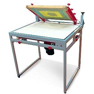 Impressora serigráfica plana a vácuo área de 70x100 cm