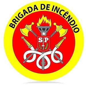 Brigada de incêndio - vinil adesivo para crachá ou capacete