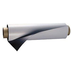 Manta magnética 0.3 flexível adesivada de pvc 61cm de largura