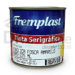 Vinílica fosca - tinta serigráfica base resinas vinílicas amarelo ouro 225 ml