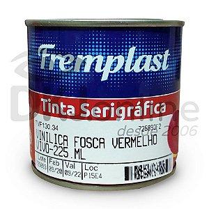 Vinílica fosca - tinta serigráfica base resinas vinílicas vermelho vivo 225 ml