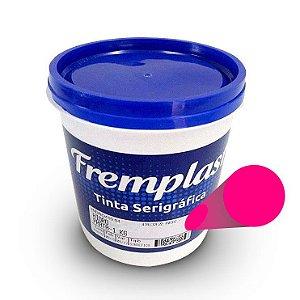Hidro Mix - Tinta serigráfica base água fluorescente rosa para tecido sintético e algodão claro e escuro 1 Kg