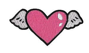 Coração Asas Pink