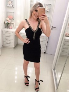 Vestido Black Brilho