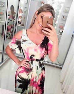 Vestido Coqueiros Rosa