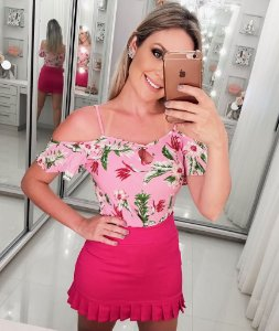 Saia Babadinho Pink