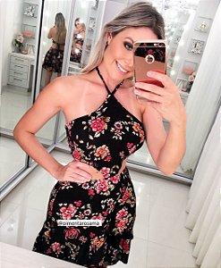 Vestido Black Floral