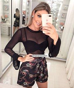 Blusa Black Transparente