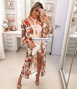 Kimono off floral