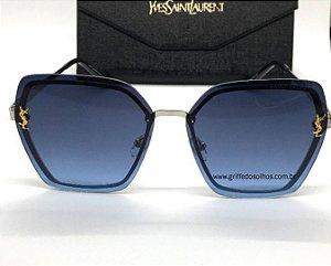 Oculos de Sol  Saint Laurent - Metal Luxury  Azul