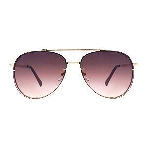 Aviador Jay Luxury- Oculos de Sol Lente Rose Degrade