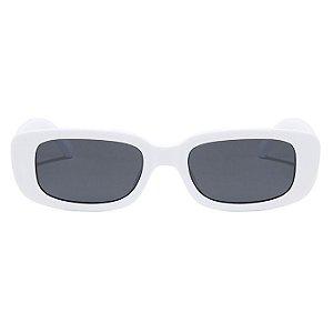 Óculos De Sol Retangular John Retrô - Vintage Branco