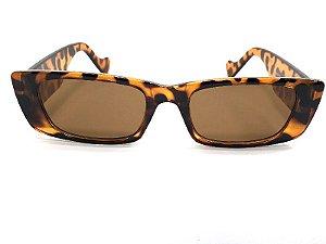 Óculos De Sol Aria - Retangular Retrô Leopardo