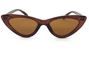 Oculos de Sol  Gatinho Vintage Marrom