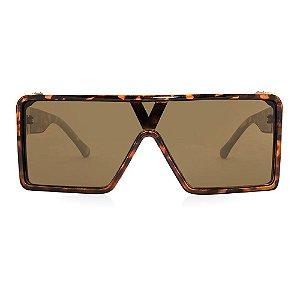 Óculos Harmon Quadrado - Oculos Mascara  Leopardo