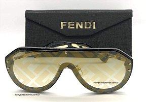 Óculos de Sol  Fendi | Fendi Máscara Espelhado Monogram FF M0039/G/S 2M2 7Y